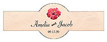 Coralbell Lace Wedding Cigar Band Label