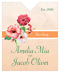 Coralbell Lace Wine Wedding Label 3.25x4