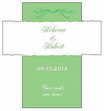 Customized Honeymoon Waves Rectangle Wine Wedding Label 3.5x3.75