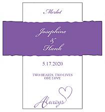 Customized Always Swirly Rectangle Wine Wedding Label 3.5x3.75