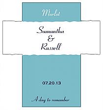 Customized Classic Rectangle Wine Wedding Label 3.5x3.75