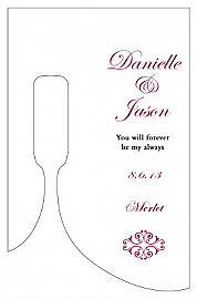 Decor Small Bottoms Up Rectangle Wine Wedding Label