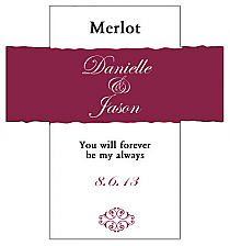 Customized Decor Rectangle Wine Wedding Label 3.5x3.75
