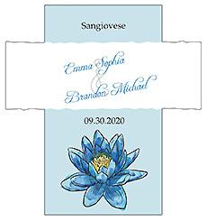 Customized Floral Fairytale Flower Rectangle Wine Wedding Label 3.5x3.75