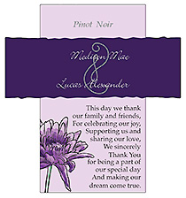 Customized Floral Lovely Lavender Rectangle Wine Wedding Label 3.5x3.75