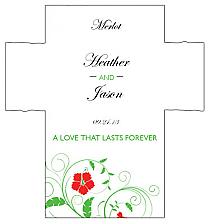 Customized Flowers Rectangle Wine Wedding Label 3.5x3.75