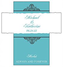 Customized Glamorous Rectangle Wine Wedding Label 3.5x3.75