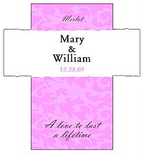 Customized Magnolia Rectangle Wine Wedding Label 3.5x3.75