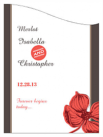 Customized Polka Curved Rectangle Wine Wedding Label