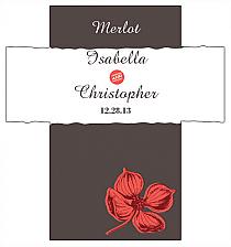 Customized Polka Rectangle Wine Wedding Label 3.5x3.75
