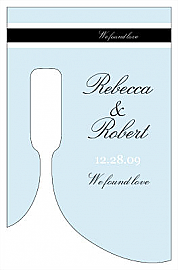 Simple Portrait Small Bottoms Up Rectangle Wine Wedding Label 2.25x3.5