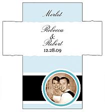 Customized Simple Portrait Rectangle Wine Wedding Label 3.5x3.75