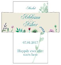 Customized Spring Meadow Flowers Rectangle Wine Wedding Label 3.5x3.75
