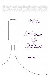 Customized Vintage Bottom's Up Rectangle Wine Wedding Label