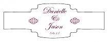 Decor Buckle Cigar Band Wedding Labels