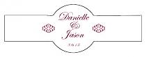 Decor Cigar Band Wedding Labels