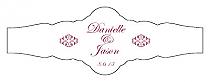 Decor Fancy Cigar Band Wedding Labels