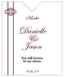 Decor Wine Wedding Label 3.25x4