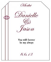 Decor Wine Wedding Label