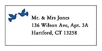 Doves Address Wedding Labels