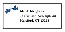 Doves Address Wedding Labels