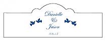 Doves Billbord Cigar Band Wedding Labels