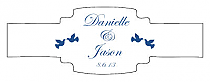 Doves Buckle Cigar Band Wedding Labels