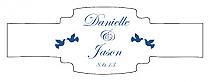 Doves Buckle Cigar Band Wedding Labels