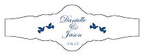 Doves Fancy Cigar Band Wedding Labels