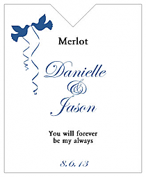 Doves Wine Wedding Label 3.25x4