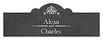 Eat Drink be Married Chalkboard Billbord Cigar Band Wedding Labels