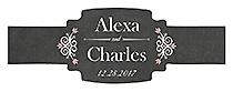 Eat Drink be Married Chalkboard Buckle Cigar Band Wedding Labels