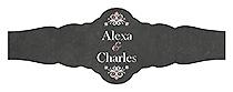 Eat Drink be Married Chalkboard Fancy Cigar Band Wedding Labels