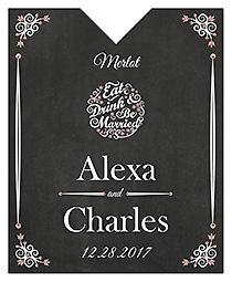 Eat Drink be Married Chalkboard Wine Wedding Label 3.25x4