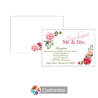Floral Elegant Summer Poppy 5 x 3.5 Accomodations Enclosure Card