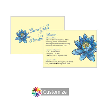 Floral Fairytale Flower 5 x 3.5 Accomodations Enclosure Card