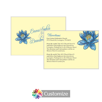 Floral Fairytale Flower 5 x 3.5 Directions Enclosure Card