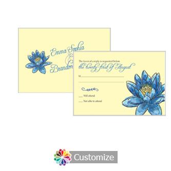 Floral Fairytale Flower 5 x 3.5 RSVP Enclosure Card - Reception