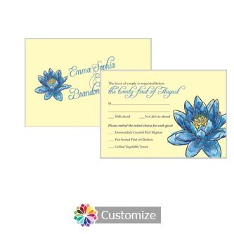 Floral Fairytale Flower 5 x 3.5 RSVP Enclosure Card - Dinner Choice