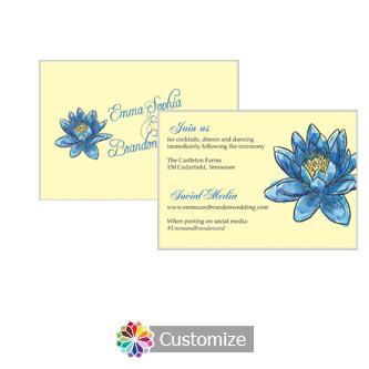 Floral Fairytale Flower 5 x 3.5 Details-Enclosure Card
