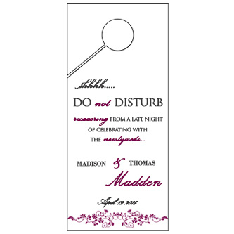 Floral Boarder Wedding Door Hanger 4x9