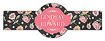 Floral Chalkboard Cigar Band Wedding Labels