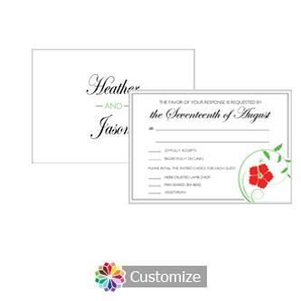 Floral 5 X 35 RSVP Enclosure Card