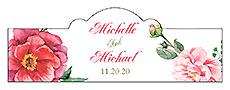 Floral Elegant Summer Poppy Billbord Cigar Band Wedding Label