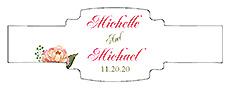 Floral Elegant Summer Poppy Buckle Cigar Band Wedding Label