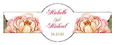 Floral Elegant Summer Poppy Cigar Band Wedding Label