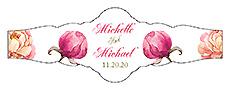 Floral Elegant Summer Poppy Fancy Cigar Band Wedding Label