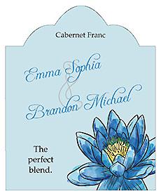 Floral Fairytale Flower Scalloped Vertical Big Rectangle Wedding Label