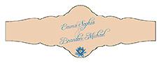 Floral Fairytale Flower Wedding Fancy Cigar Band Label