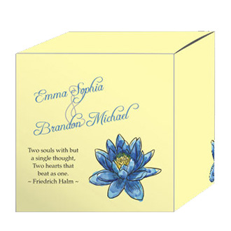 Floral Fairytale Flower Wedding Box Medium